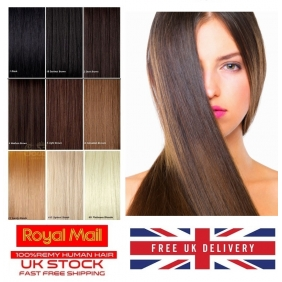 "Wholesale UK Stock 5A Quality 14""-24\"" Tape In Human Hair Extensions 30gr-70gr 31 Colors"