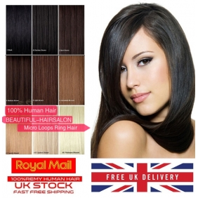 "Wholesale UK Stock 28 Color Double Drawn 100S 16""-22""  Micro rings/loop hair 1g/s  human hair extensions"