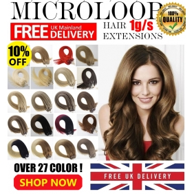 "Wholesale UK Stock 28 Color Double Drawn 50S 16""-22""  Micro rings/loop hair 1g/s  human hair extensions"