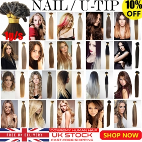 "Wholesale UK Stock 28 colors Double Drawn 50S 16""-22"" Nail U tip hair 1g/s  human hair extensions"