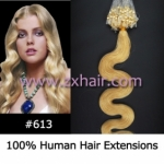 "100S 20"" remy Micro rings hair Wave human hair extensions #613"