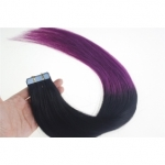 "18"" 40g Tape Human Hair Extensions #01/purple Ombre"