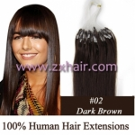 "100S 18"" Micro rings/loop hair remy human hair extensions #02"