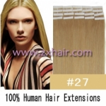 "22"" 60g Tape Human Hair Extensions #27"