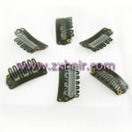 40 pcs Clips For Clip-on Hair Extensions,Toupees 28mm brown