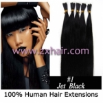 "100S 18"" Stick tip hair remy 0.5g/s human hair extensions #01"