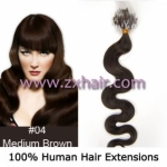 "100S 20"" remy Micro rings hair Wave human hair extensions #04"