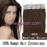 "24"" 70g Tape Human Hair Extensions #04"