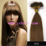 "100S 18"" Stick tip hair remy 0.5g/s human hair extensions #10"