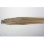 "24"" 70g Tape Human Hair Extensions #18/613 Mixed"