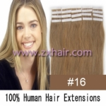 "24"" 70g Tape Human Hair Extensions #16"