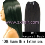 "20"" remy Human Hair Weft/Extensions 50"" Wide #1B"