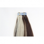 "22"" 60g Tape Human Hair Extensions #4/613 Mixed"