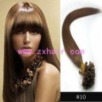 "100S 18"" Nail tip hair remy Human Hair Extensions #10"