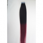 "16"" 30g Tape Human Hair Extensions #1B/BUG Ombre"