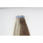 "22"" 60g Tape Human Hair Extensions #12/613 Mixed"