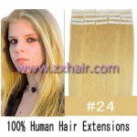 "20"" 50g Tape Human Hair Extensions #24"