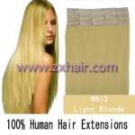 "22"" 60g Tape Human Hair Extensions #613"