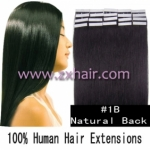 "18"" 40g Tape Human Hair Extensions #1B"