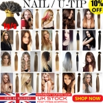 UK Stock 28 Colors Double Drawn 50S 1G Pre Bonded Nail U Tip Remy Human Hair Extensions 1 GRAM