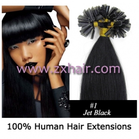 "100S 20"" Nail tip hair remy Human Hair Extensions #01"