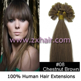 "100S 18"" Nail tip hair remy Human Hair Extensions #08"