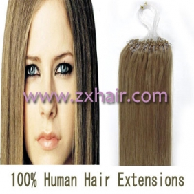 "100S 18"" Micro rings/loop hair remy human hair extensions #16"