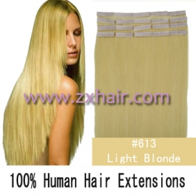 "24"" 70g Tape Human Hair Extensions #613"