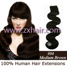 "20"" Wave remy Human Hair Weft/Extensions 50"" Wide #04"