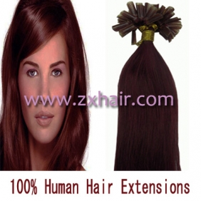 "100S 22"" Nail tip hair remy Human Hair Extensions #bug"