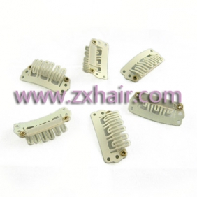 40pcs clip/snap clips for hair extensions/wig/weft 28mm Blonde