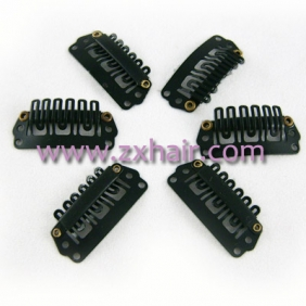 30pcs Clips/snap for Hair extensions/wig/weft 33mm Black!!