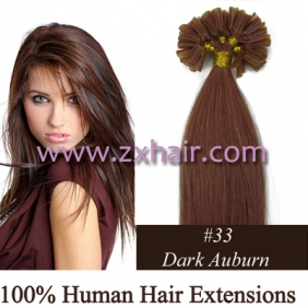 "100S 20"" Nail tip hair remy Human Hair Extensions #33"