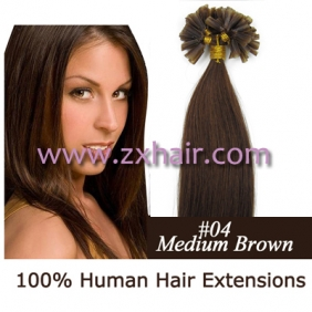 "100S 16"" Nail tip hair remy Human Hair Extensions #04"