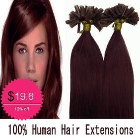 "100S 18"" Nail tip hair remy Human Hair Extensions #bug"