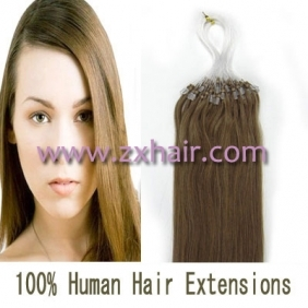 "100S 16"" Micro rings/loop hair remy human hair extensions #12"
