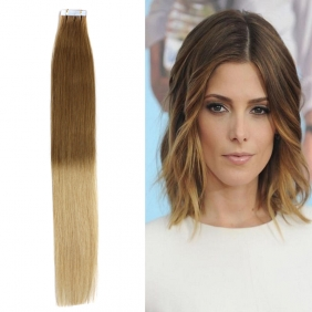"18"" 40g Tape Human Hair Extensions #12/20 Ombre"