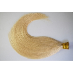 "100S 18"" Stick tip hair 1g/s human hair extensions #613 Double Drawn"