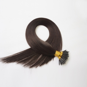 "100S 18"" Nano hair 1g/s human hair extensions #1B Double Drawn"