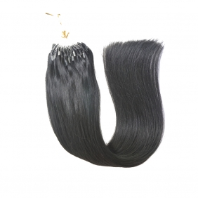 "100S 16"" Micro rings/loop hair 1g/s human hair extensions #01 Double Beads"