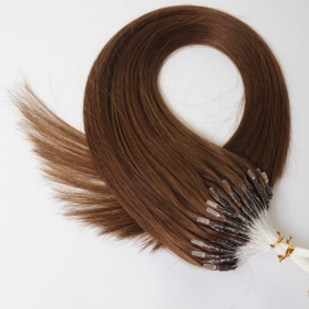 "100S 18"" Micro rings/loop hair 1g/s human hair extensions #04 Double Beads"