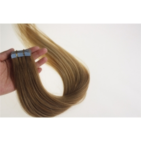 "24"" 70g Tape Human Hair Extensions #12/20 Ombre"