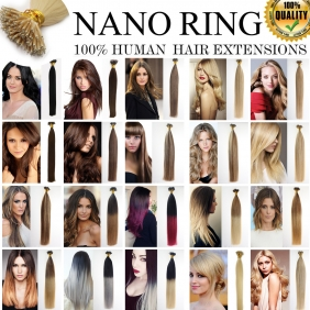 "UK Stock 28 Colors Double Drawn 50S 16""-24"" Nano hair 1g/s human hair extensions"